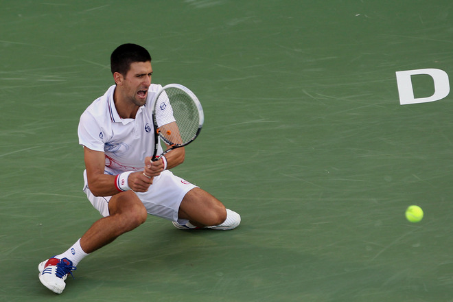 Novak Djokovic Of Serbia Returns