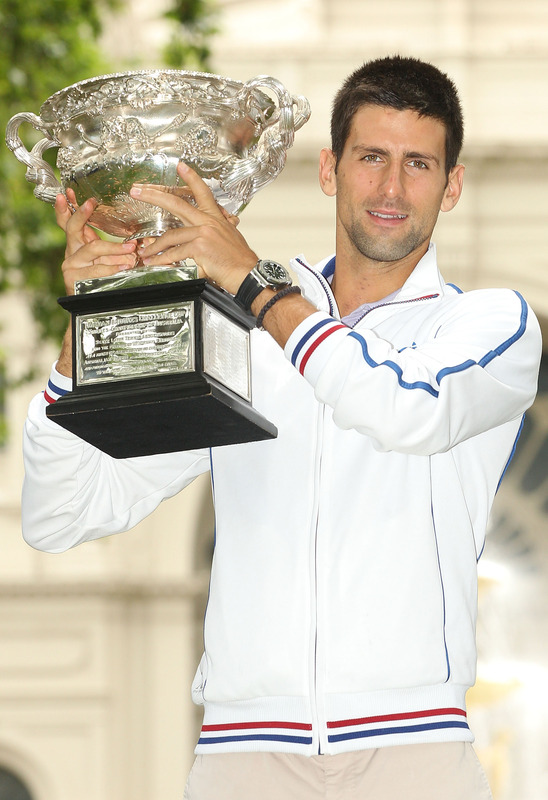 Novak Djokovic Of Serbia Poses