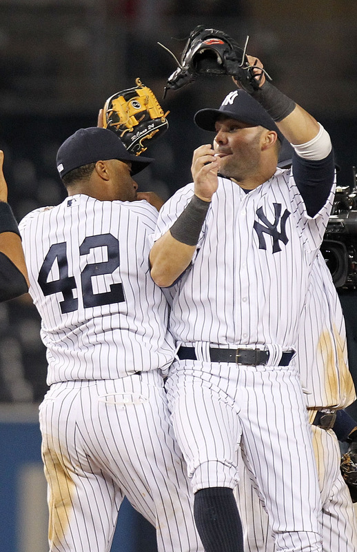 Nick Swisher Of The New York Yankees Celebrates