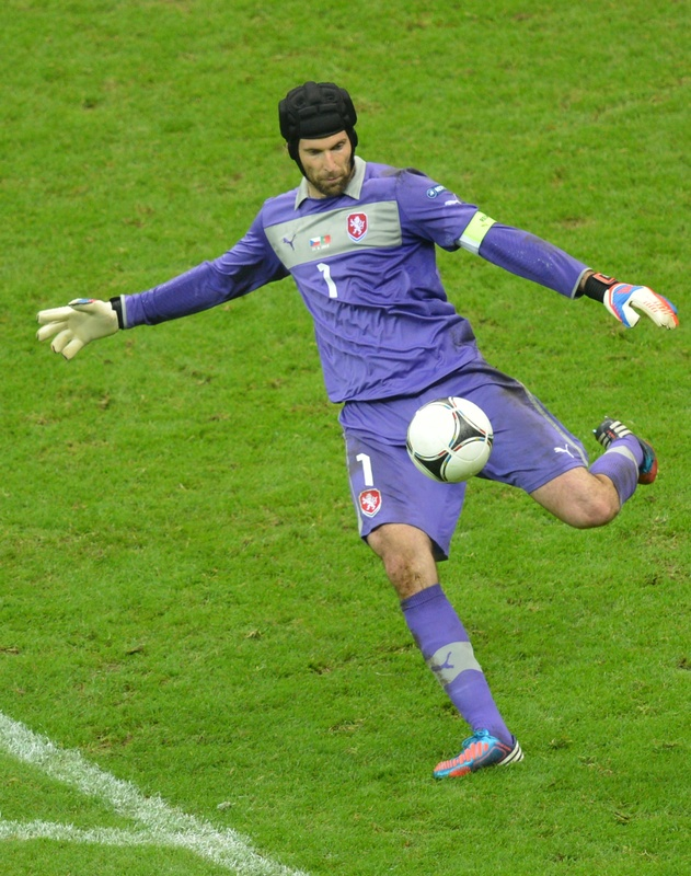 Czech Goalkeeper Petr Cech Shoots