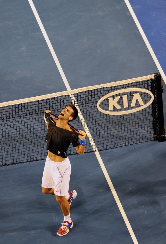 Novak Djokovic Of Serbia Rips