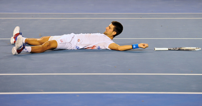 Novak Djokovic Of Serbia Drops
