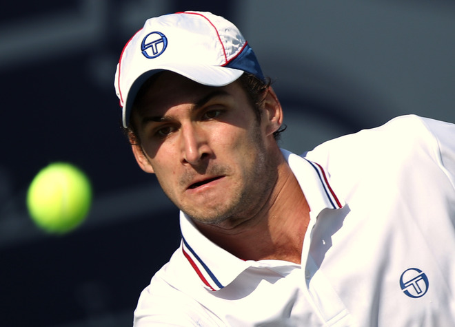 Marko Djokovic Of Serbia, The Younger Brother Of World Number One Novak Djokovic, Eyes
