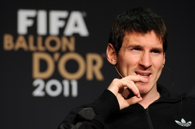 Nominee For The FIFA Ballon D'Or, Barcelona's Argentinian Forward Lionel Messi, Attends