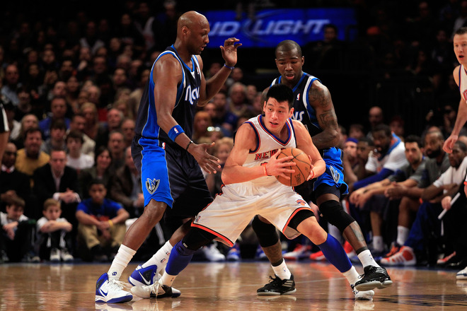 Jeremy Lin #17 Of The New York Knicks Is
