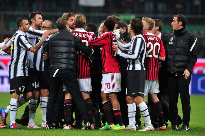 Juventus Milan Controversy Fight