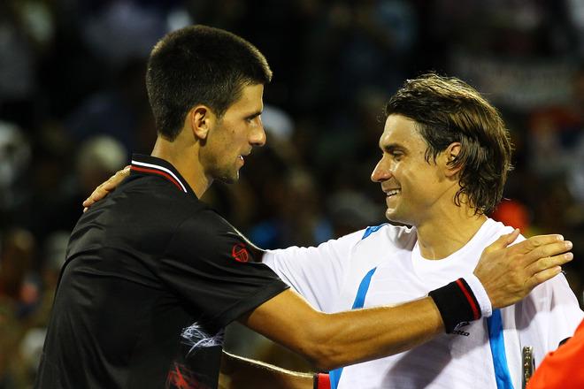 Novak Djokovic Of Serbia Greets