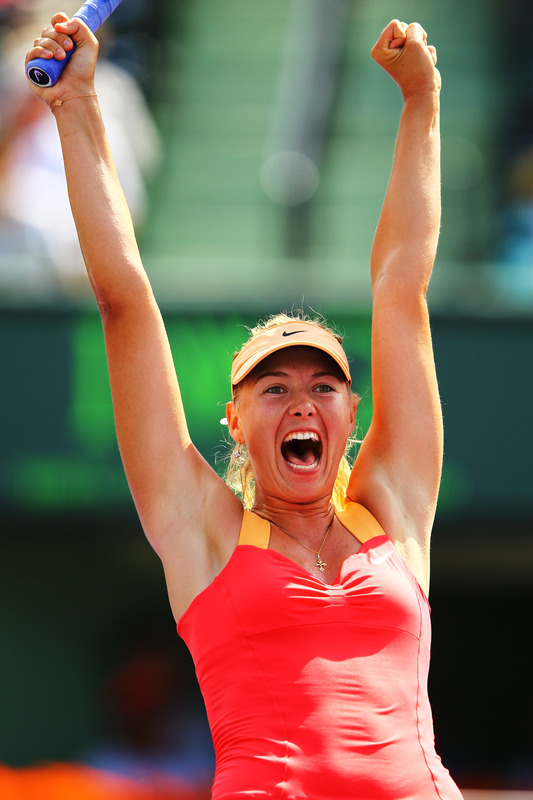 Maria Sharapova Of Russia Celebrates