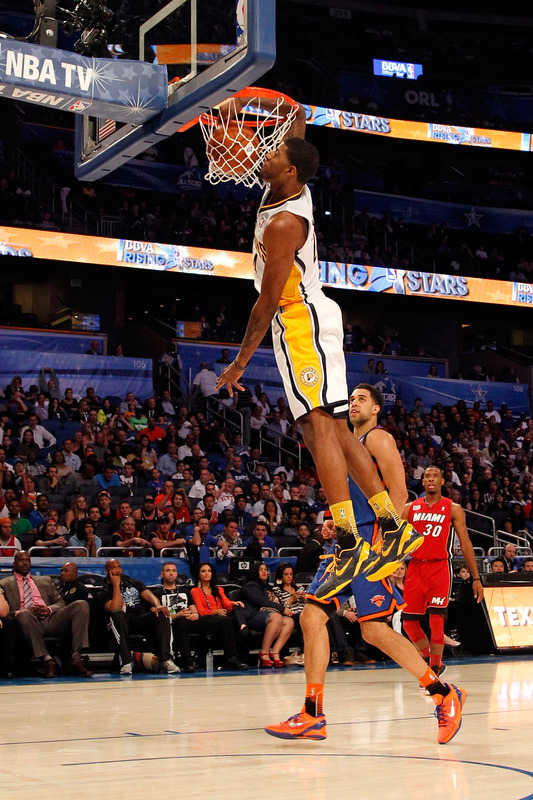 Paul George #24 Of The Indiana Pacers And Team Chuck Dunks