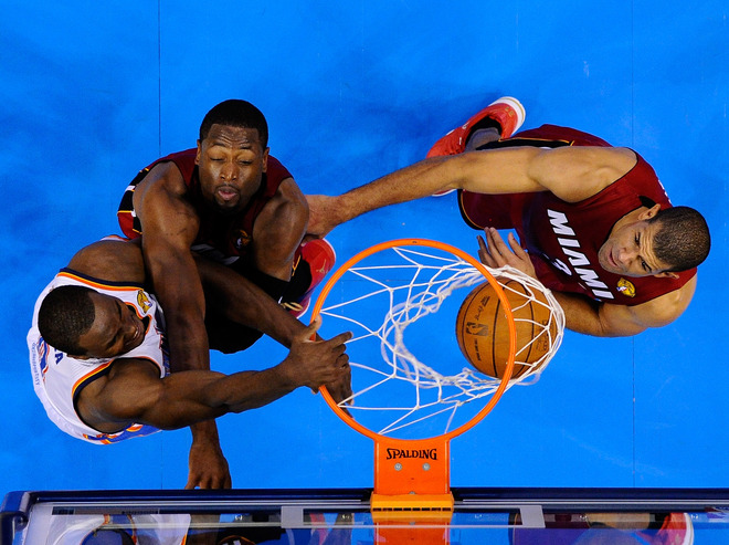 Serge Ibaka #9 Of The Oklahoma City Thunder Dunks