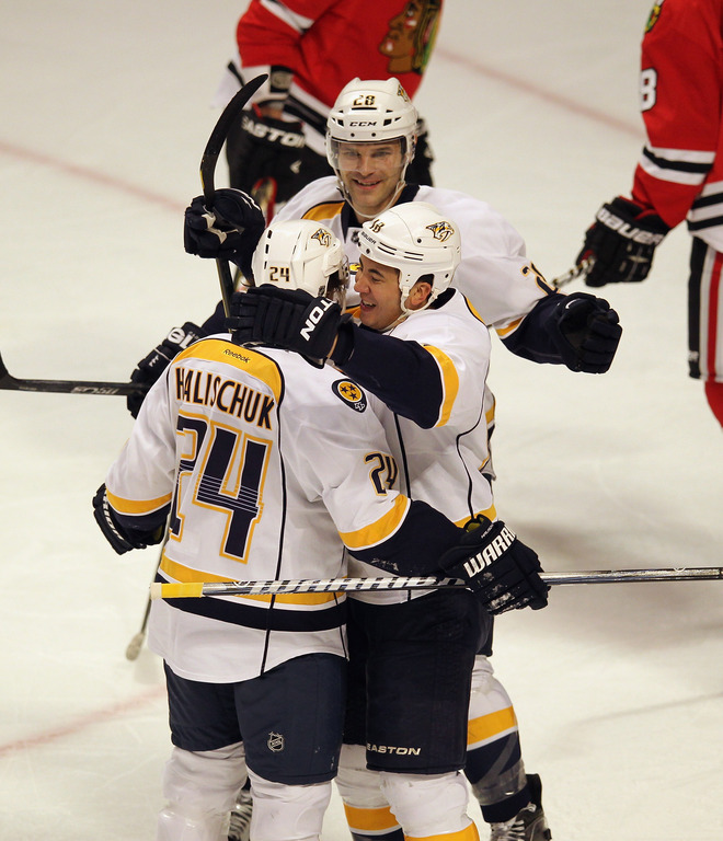 Matt Halischuk #24 Of The Nashville Predators Gets