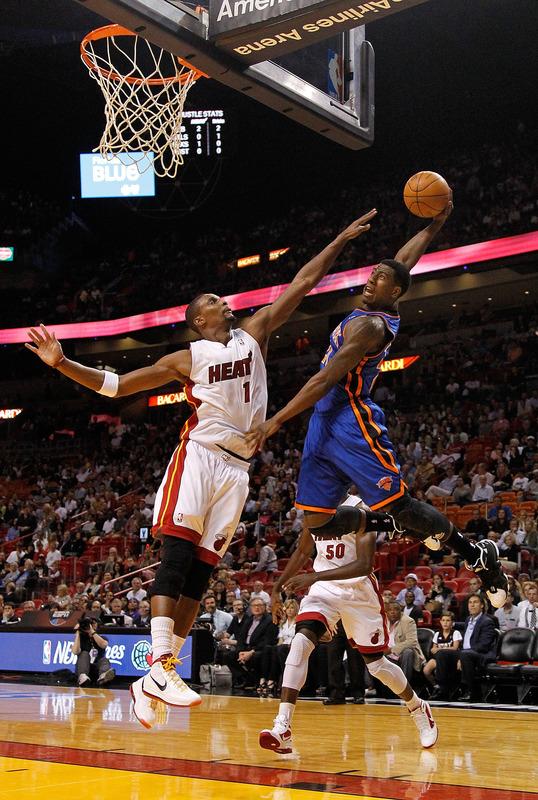 Iman Shumpert #21 Of The New York Knicks Tries