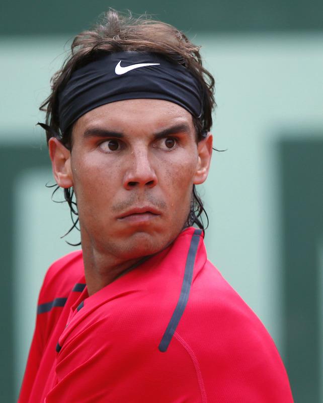 Spain's Rafael Nadal Hits