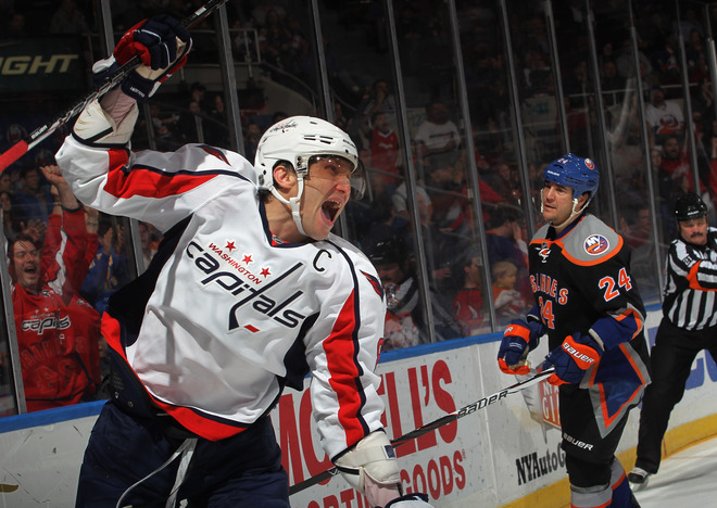 Alex Ovechkin #8 Of The Washington Capitals Ties