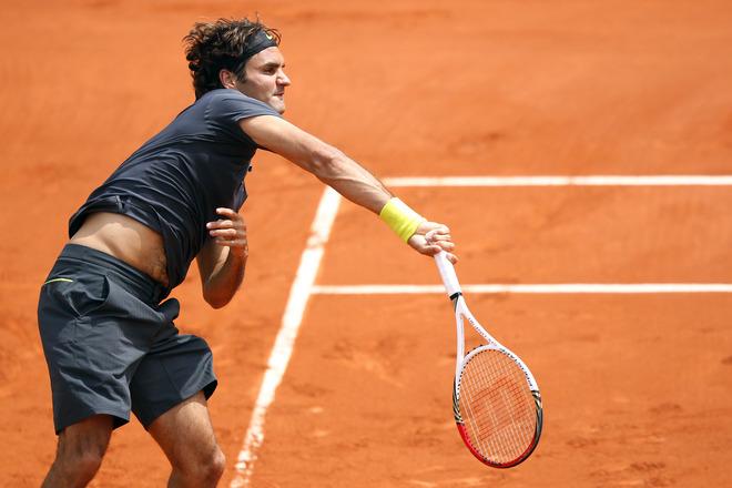 Swiss Roger Federer Serves