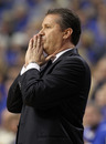 LEXINGTON, KY - DECEMBER 31:  John Calipari the head coach of the Kentucky Wildcats watches the action during 69-62 win over the Louisville Cardinals at Rupp Arena on December 31, 2011 in Lexington, Kentucky.  (Photo by Andy Lyons/Getty Images)