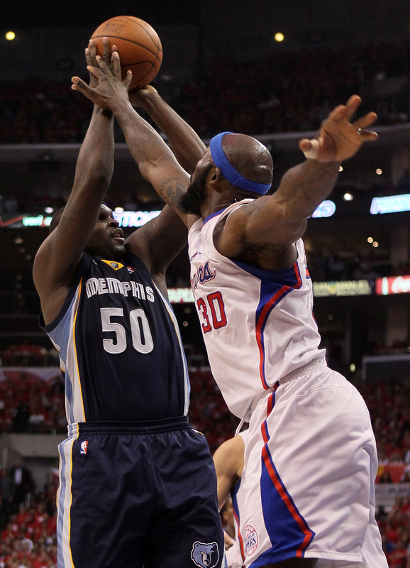 Zach Randolph #50 Of The Memphis Grizzlies Shoots