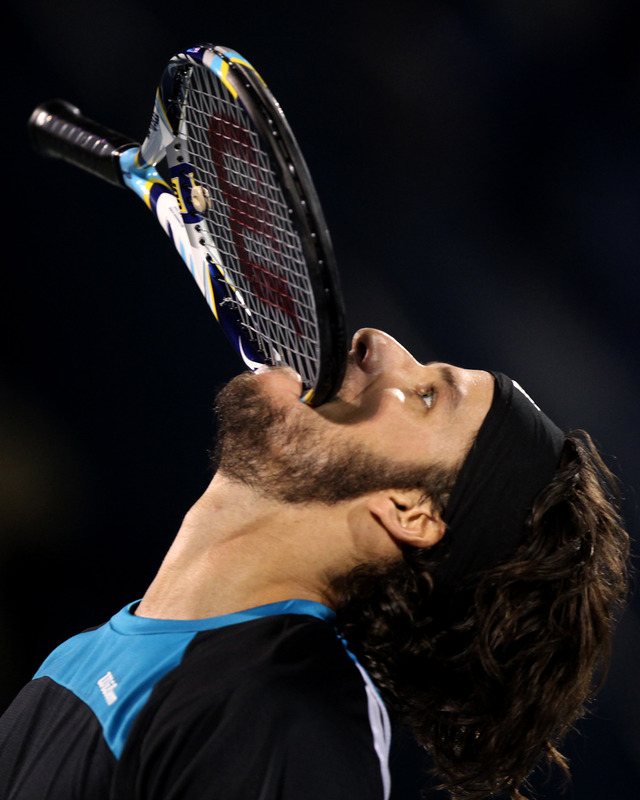 Feliciano Lopez Of Spain Bites