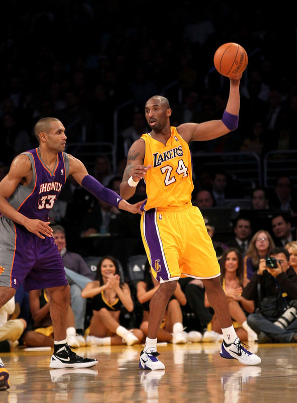 Kobe Bryant #24 Of The Los Angeles Lakers Controls
