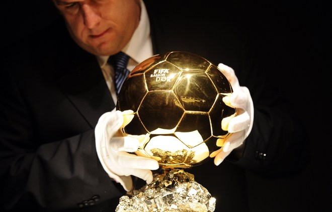 The FIFA Ballon D'Or Trophy Is
