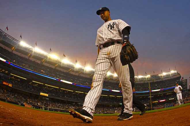Derek Jeter #2 Of The New York Yankees Walks