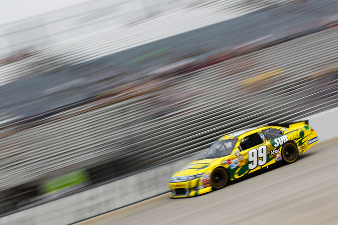 Carl Edwards, Driver Of The #99 Subway Ford, On Track