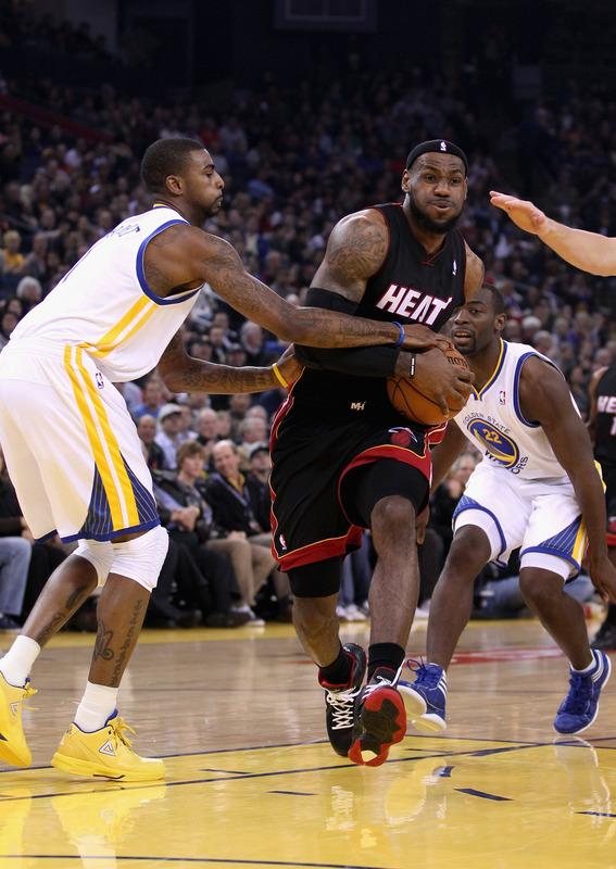 LeBron James Miami Heat Golden State Warriors