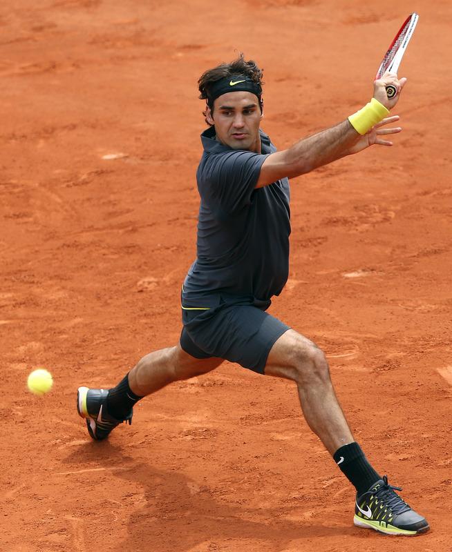 Swiss Roger Federer Hits