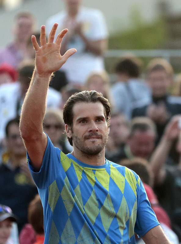 Germany's Tommy Haas Reacts