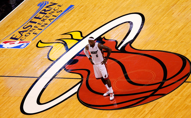 LeBron James #6 Of The Miami Heat Looks