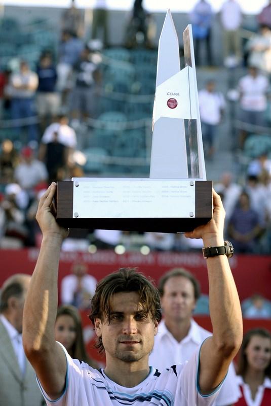 Spain's David Ferrer Holds