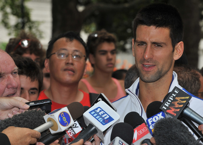 Novak Djokovic Of Serbia Speaks