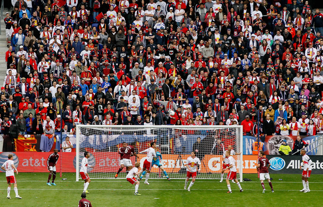 A General View Of The Match Between The New York Red Bulls And The Colorado Rapids At Red Bull Arena On March 25,