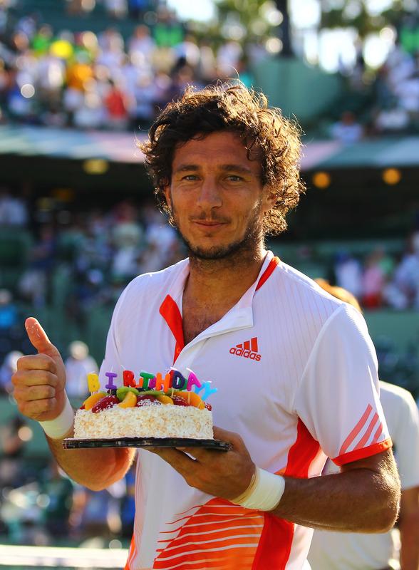 Juan Monaco Of Argentina Celebrates