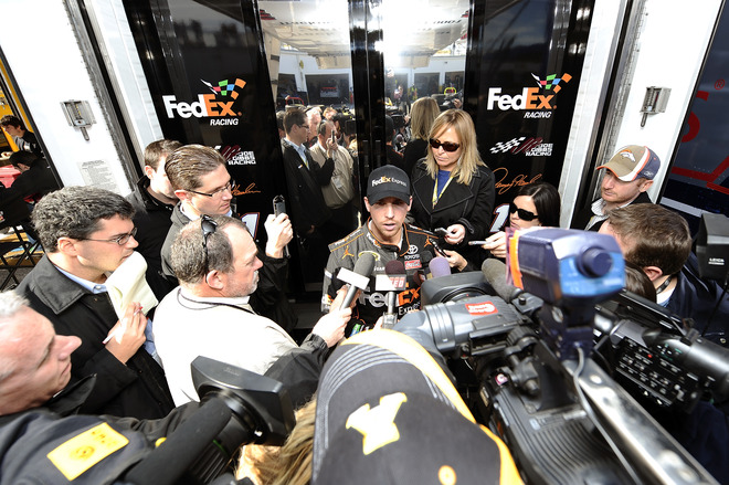 Denny Hamlin, Driver Of The #11 FedEx Express Toyota, Speaks