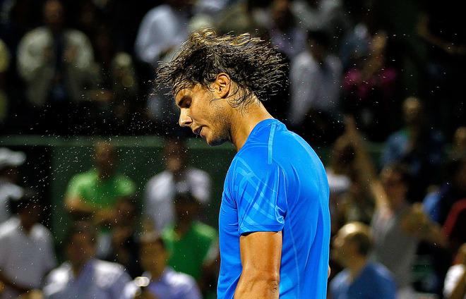 Rafael Nadal Of Spain Shakes