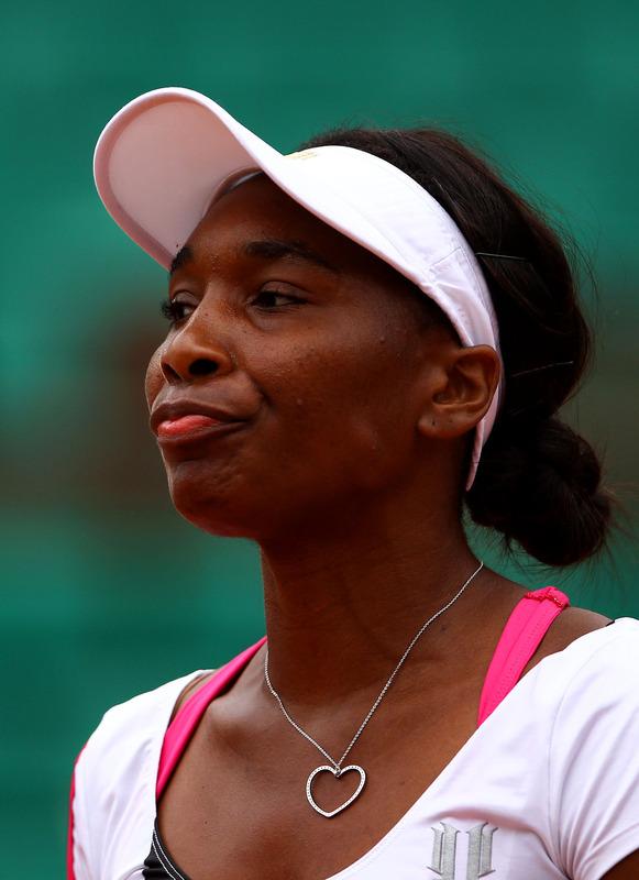 Venus Williams Of USA Reacts