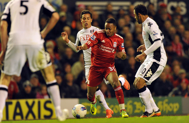 His 2nd first team appearance: Raheem Sterling (Liverpool) vs Fulham