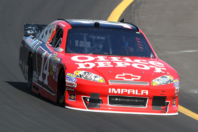 Tony Stewart, Driver Of The #14 Office Depot/ Mobil 1 Chevrolet, Drives