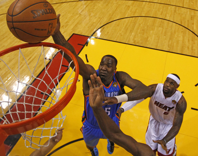Oklahoma City Thunder Kendrick Perkins Gets