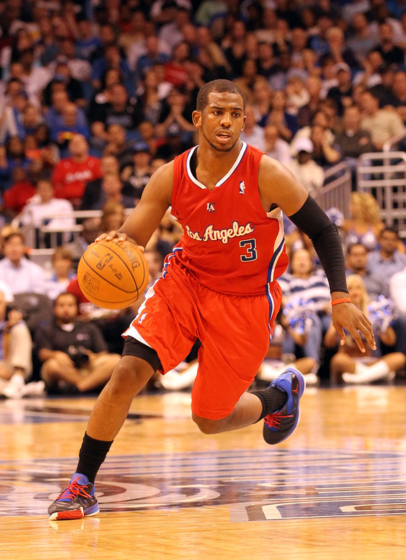 Chris Paul #3 Of The Los Angeles Clippers Dribbles