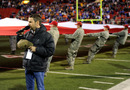 LAS VEGAS, NV - DECEMBER 22: Recording artist Craig Campbell sings the American national anthem before the Boise State Broncos and the Arizona State Sun Devils played in the MAACO Bowl Las Vegas at Sam Boyd Stadium December 22, 2011 in Las Vegas, Nevada. Boise State won 56-24. (Photo by Ethan Miller/Getty Images)