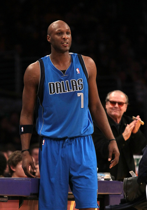 Lamar Odom #7 Of The Dallas Mavericks Gets