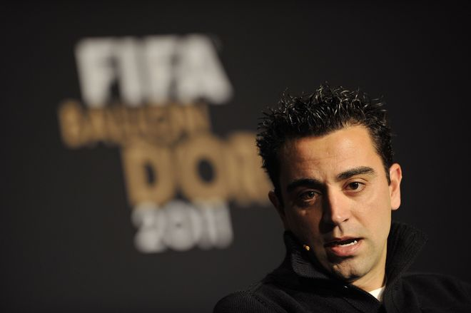 Nominee For The 2011 FIFA Ballon D'Or, Xavi Attends