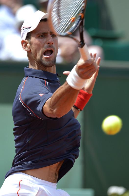 Serbia's Novak Djokovic Hits