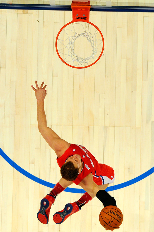 Blake Griffin #32 Of The Los Angeles Clippers And Team Shaq Dunks