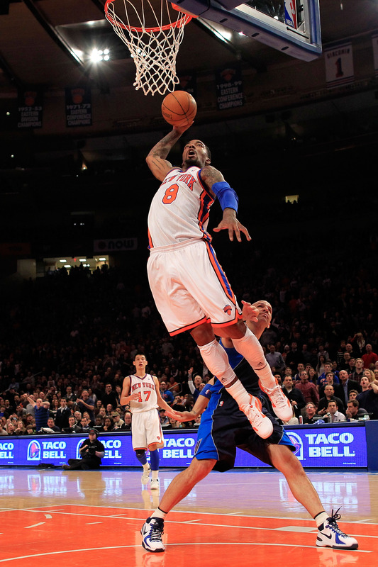 J.R. Reid #8 Of The New York Knicks Dunks
