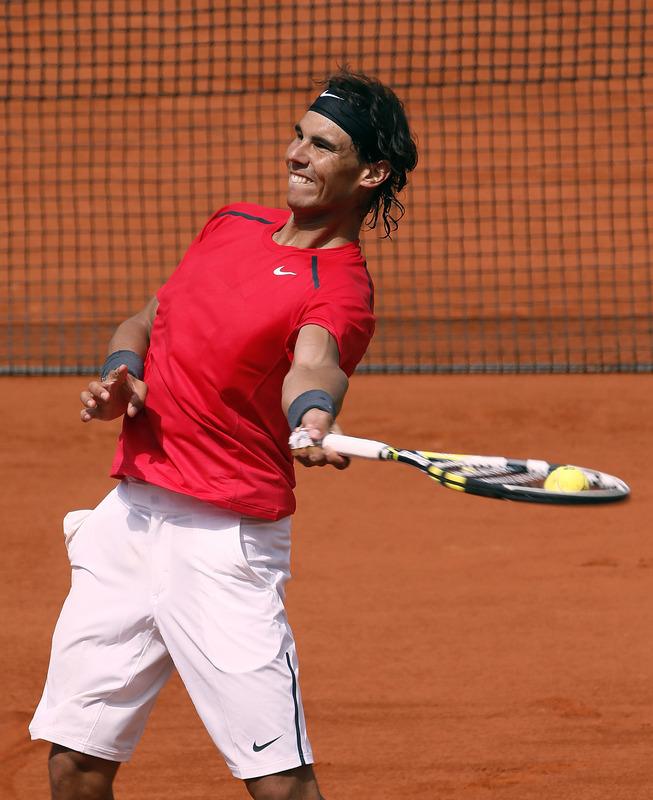 Spain's Rafael Nadal Reacts
