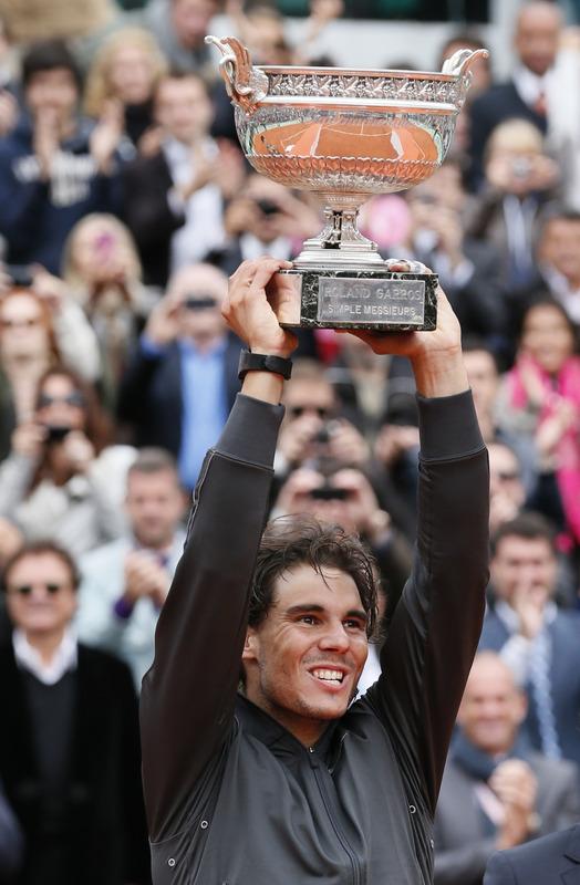 Spain's Rafael Nadal Holds
