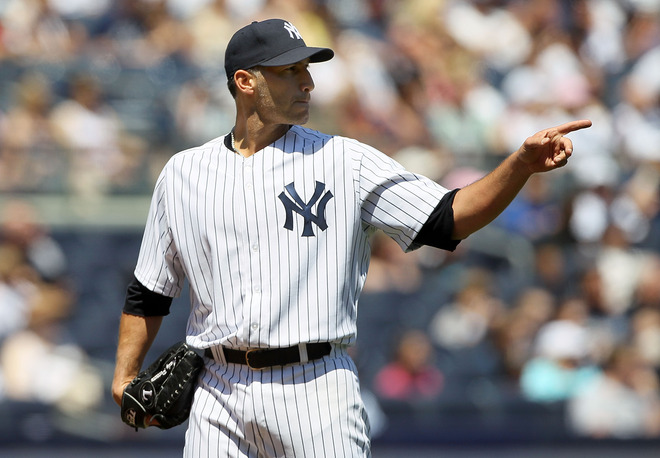 Andy Pettitte #46 Of The New York Yankees Prepares